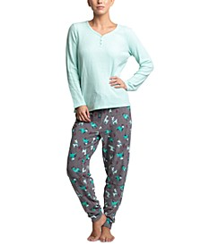 Stretch Waffle Fleece Pajama Set
