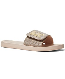 MK Signature Logo Slide Sandals