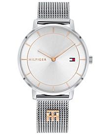 Women's Two-Tone Stainless Steel Mesh Bracelet Watch 35mm