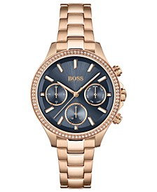 Women's Hera Rose Gold-Tone Stainless Steel Bracelet Watch 38mm