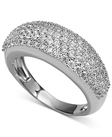 Silver-Tone Pavé Dome Ring, Created for Macy's