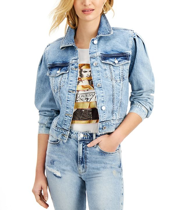 GUESS 80s-Style Teddy Denim Jacket