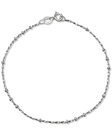 Beaded Sparkle Bracelet in Sterling Silver, Created for Macy's