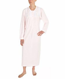 Honeycomb Pointelle Long Nightgown