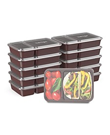 Food Prep 2-Compartment Food Storage Containers, Pack of 10