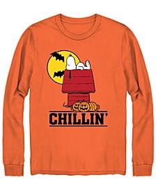 Men's Snoopy Chillin Halloween Long Sleeve T-shirt
