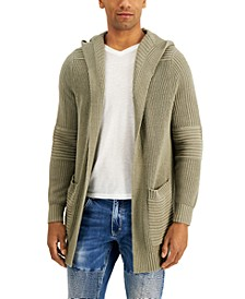 INC Men's Textured-Knit Hooded Cardigan, Created for Macy's