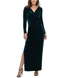 Velvet V-Neck Gown