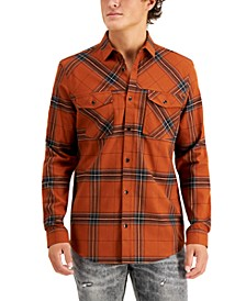 INC Men's Plaid Flannel Shirt, Created for Macy's