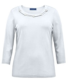Cotton O-Ring Top, Created for Macy's