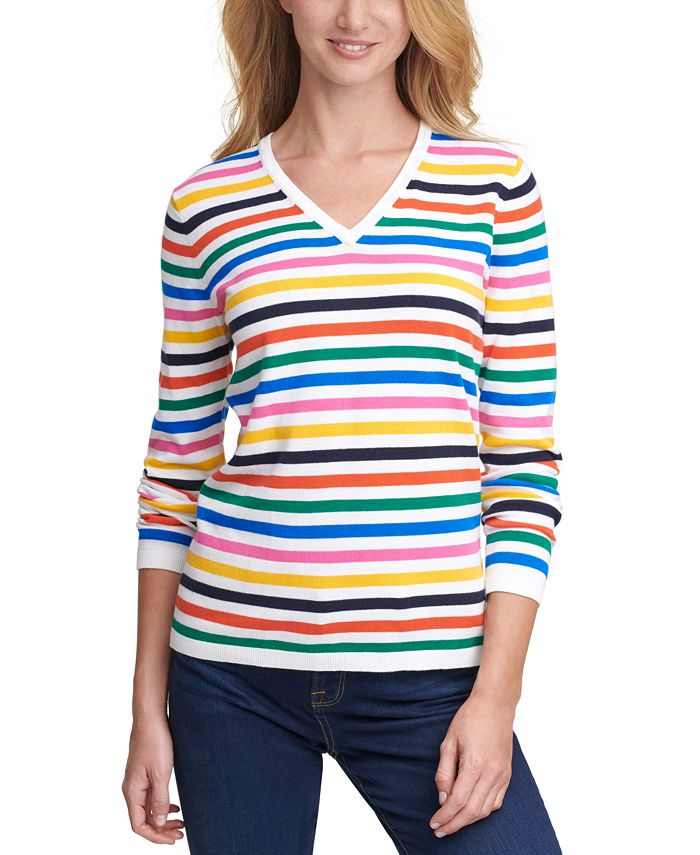 Tommy Hilfiger - Striped Cotton Sweater