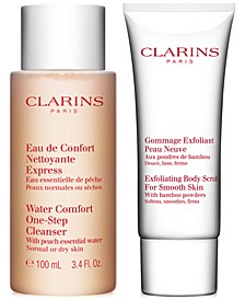 GET MORE! Choose Your One-Step Cleanser or Exfoliating Body Scrub with any $100 Clarins Purchase (Total gift up to a $80 Value!)*