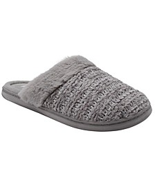 Women's Chenille Knit Slipper with Gold Shimmer Accent (58% Off) -- Comparable Value $24