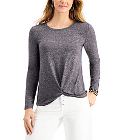 Style & Co Twist-Hem Top, Created for Macy's