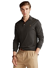 Men's Big & Tall Soft Cotton Long-Sleeve Polo