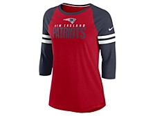 New England Patriots Women's Three Quarter Sleeve Raglan Shirt