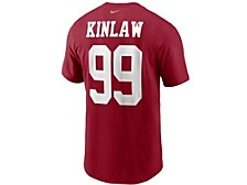 San Francisco 49ers Men's Pride Name and Number Wordmark 3.0 Player T-shirt Javon Kinlaw