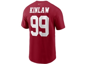 Nike San Francisco 49ers Men's Pride Name and Number Wordmark 3.0 Player T-shirt Javon Kinlaw