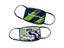 Seattle Seahawks Little Boys 2pack Face Mask