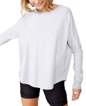 Cotton On Cottons WOMEN'S ACTIVE RIB LONG SLEEVE TOP