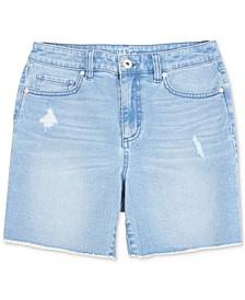Fray-Hem Denim Shorts, Created for Macy's
