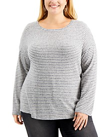 Plus Size Hannah Striped Top, Created for Macy's