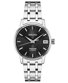 Men's Automatic Presage Stainless Steel Bracelet Watch 40mm