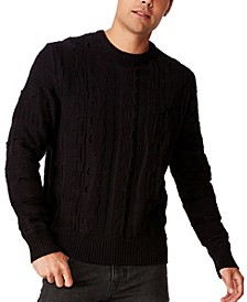 Men's Vintage-Like Multi Knit Sweater