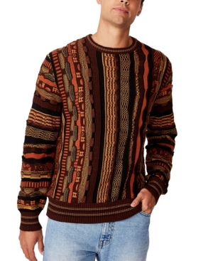 Men's Vintage Sweaters History Cotton On Mens Vintage-Like Multi Knit Sweater $49.99 AT vintagedancer.com
