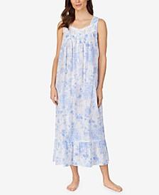 Floral-Print Cotton Ballet Nightgown