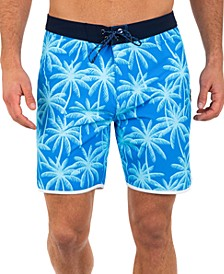 "Men's Phantom 9 Palms Stretch 18""  Board Shorts"