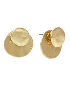 Gold-Tone Button Earrings