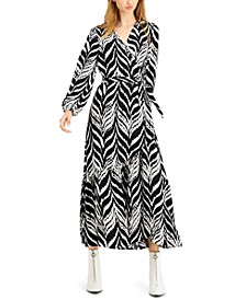 Ikat-Print Wrap Maxi Dress, Created for Macy's