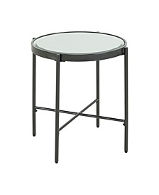 Carlo Round End Table with Glass Top