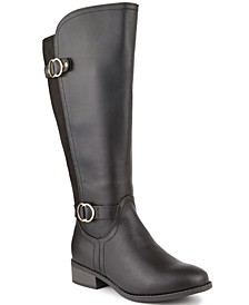 Leandraa Wide-Calf Riding Boots, Created for Macy's