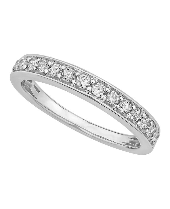 Macy's Certified Diamond Pave Band 1/4 ct. t.w. in 14k White or Yellow Gold
