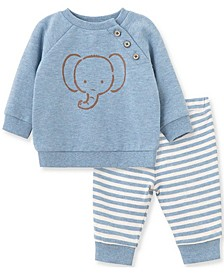 Little  Me Baby Boy Elephant Pant Set