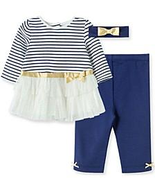 Little  Me Baby Girl Stripe Legging Set