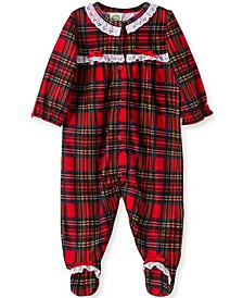 Little  Me Baby Girl Girl Plaid Footie