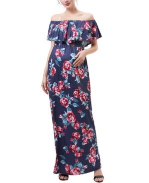 kimi + kai Brielle Maternity or Nursing Floral Print Maxi Dress