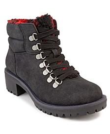 Women's Marisol Fuzzy Lug Sole Hiker Boots