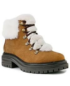 Women's Rolls Fuzzy Lug Sole Hiker Boots