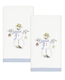 Coastal Snowman Fingertip Towels, 2 Piece