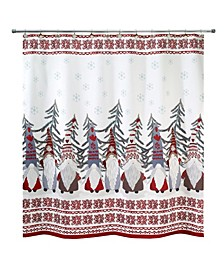 """Christmas Gnomes 72"""" x 72"""" Shower Curtain"""