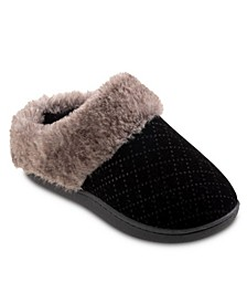 Women's Velour Sabrine Hoodback Slippers