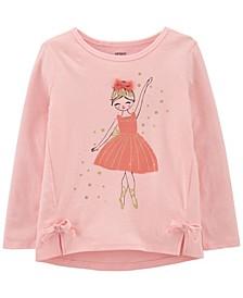Toddler Girl Ballerina Jersey Tee