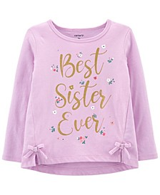 Toddler Girl Best Sister Ever Jersey Tee