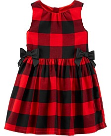 Toddler Girl Buffalo Check Twill Dress