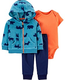 Baby Boy 3-Piece Animal Little Jacket Set