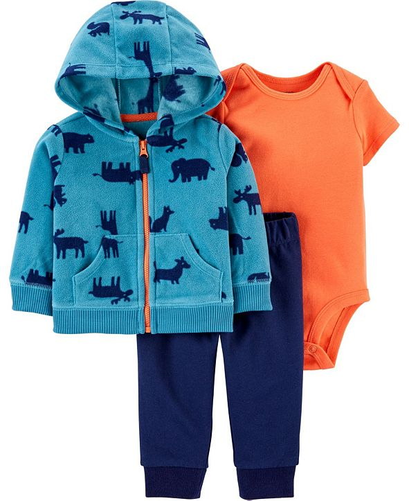 Carter's Baby Boy 3-Piece Animal Little Jacket Set